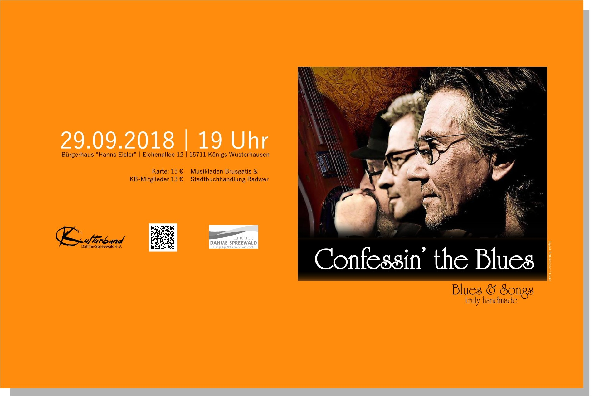 "Blues-Konzert mit ""Confessin' the Blues"""