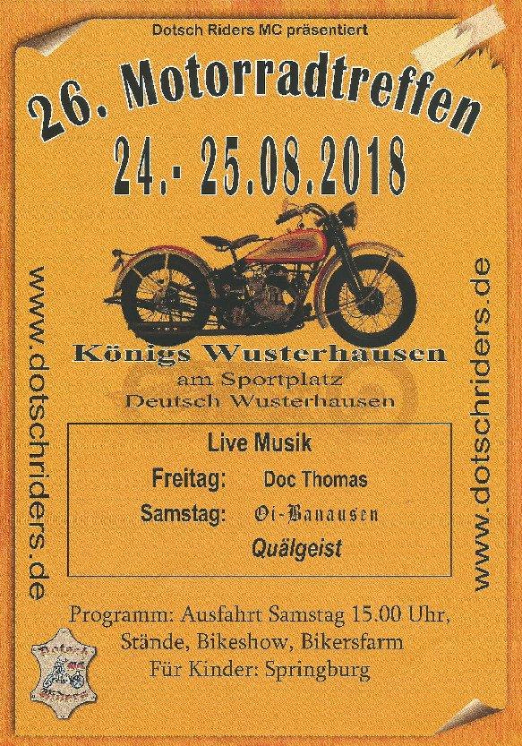 26. Motorradtreffen des Dotsch Riders Motorradclub