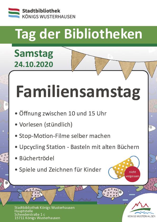 Tag der Bibliotheken: Familiensamstag in der Stadtbibliothek